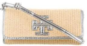 Tory Burch Thea Raffia Crossbody Bag - METALLIC - STYLE