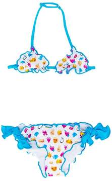 MC2 Saint Barth Kids emoji print bikini