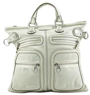 Hogan Trend Media Women Leather Ivory Messenger.