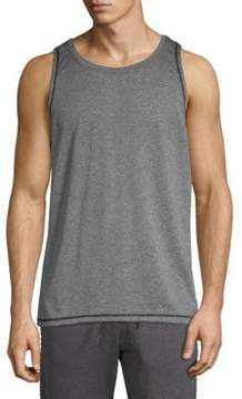 Ovadia & Sons Mesh Panel Heathered Tank Top