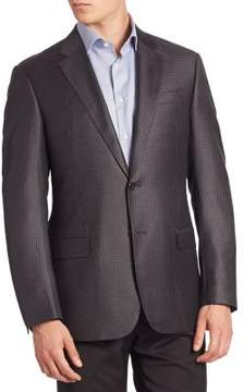 Armani Collezioni Houndstooth Wool Jacket