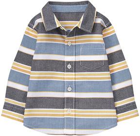 Gymboree Black & Yellow Stripe Button-Up - Infant & Boys