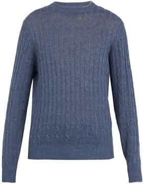Brunello Cucinelli Cable-knit linen-blend sweater