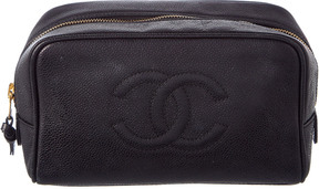 Chanel Black Caviar Leather Cosmetic Case