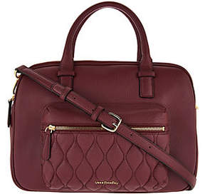 Vera Bradley Quilted Leather Triple Compartment Satchel - ONE COLOR - STYLE