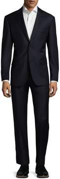 Zanetti Men's Napolik Wool Solid Notch Lapel Suit