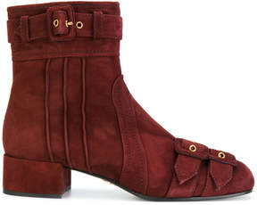 Prada buckled ankle boots