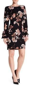 Nine West Bell Sleeve Floral Dress