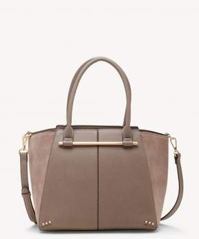 Sole Society Chusy Tote Genuine Suede Mix Tote