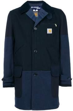 Junya Watanabe MAN x Carhartt single-breasted patchwork coat