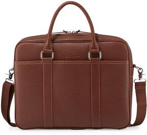 Robert Graham Pebbled Faux-Leather Messenger Bag, Cognac
