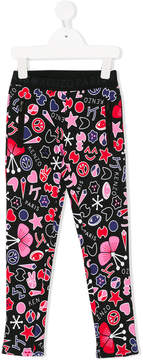 Kenzo graffiti printed trousers