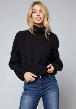 Bebe Cable Pullover Sweater