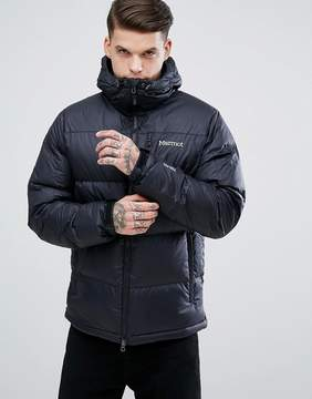Marmot Guides Down Hooded Jacket in Black