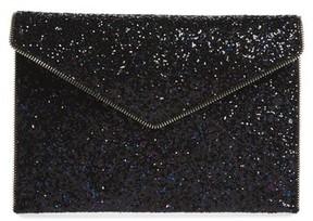 Rebecca Minkoff Leo Glitter Envelope Clutch - Purple - PURPLE - STYLE