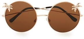 Topman Round Brown Palm Tree Sunglasses