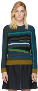 Kenzo Multicolor Broken Stripes Sweater