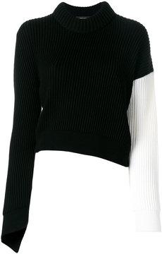 Cédric Charlier contrast sleeve jumper