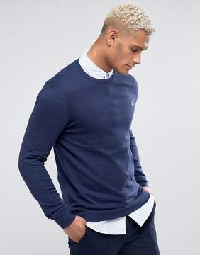 Jack Wills Seabourne Cashmere Mix Crew Neck Sweater In Navy Marl