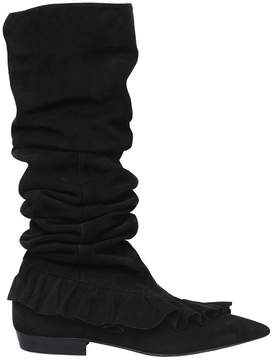 J.W.Anderson 10mm Ruffle Suede Boots