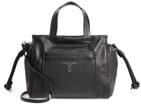 Marc Jacobs Tied Up Leather Shoulder/crossbody Tote - Black