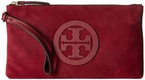 Tory Burch Charlie Clutch Clutch Handbags - IMPERIAL GARNET - STYLE