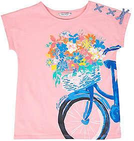 Nautica Little Girls' Bike Flower Basket Tee (2T-7)