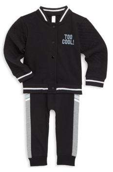 Petit Lem Baby's Two-Piece Bomber Jacket & Pants Set