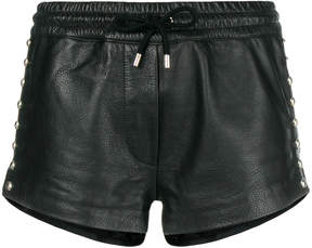 Moschino embellished leather shorts