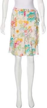Blumarine Floral Knit Skirt