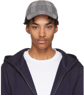 A.P.C. Grey Check Louis Cap