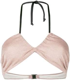 Circus Hotel lamé bikini top
