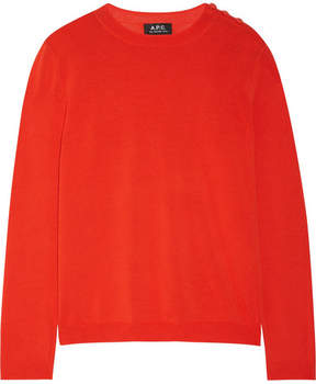 A.P.C. Aura Cotton Sweater - Red