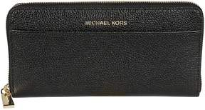 Michael Kors Grained Zip-around Wallet - NERO - STYLE