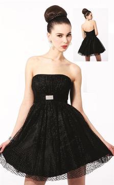 Blush Lingerie Strapless Lace Cocktail Dress 9135