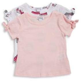 Flapdoodles Little Girl's Two-Pack Short-Sleeve Tee