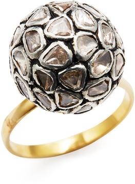 Amrapali Women's 14K Yellow Gold & 1.70 Total Ct. Diamond Ball Ring