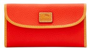 Dooney & Bourke Patterson Leather Continental Clutch Wallet - SALMON - STYLE