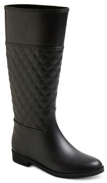 Merona Women's Barbara Quilted Tall Rain Boots