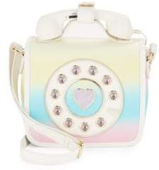 Betsey Johnson Kitsch Must Have Mini Phone Crossbody Bag