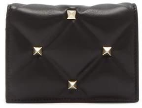 Valentino Candystud Leather Purse - Womens - Black