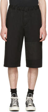 McQ Black Panelled Chino Shorts