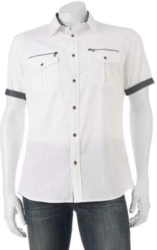 Rock & Republic Big & Tall Classic-Fit Stretch Button-Down Shirt