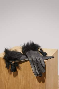 Prada Fur leather gloves