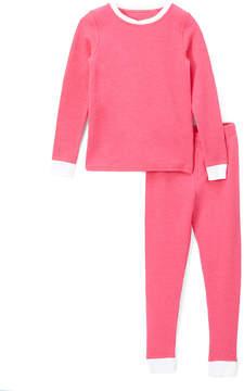 Cuddl Duds Beetroot Pink Thermal Base Layer Top & Leggings - Girls