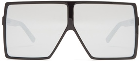SAINT LAURENT Betty oversized square-frame acetate sunglasses