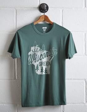Tailgate Men's Keep Wisconsin Green T-Shirt