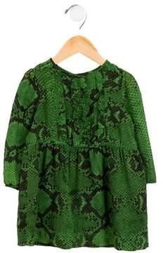 Burberry Girls' Animal Print Silk Dress