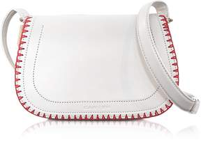 Carven Mazarine Ivory Leather Crossbody Bag