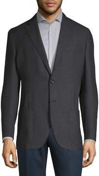 Luciano Barbera Men's Notch Wool Sports Coat